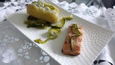 saumon courgettes