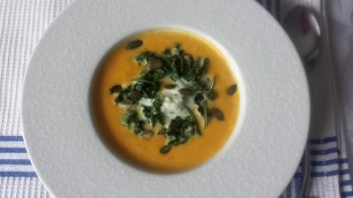 soupe potimarron et herbes
