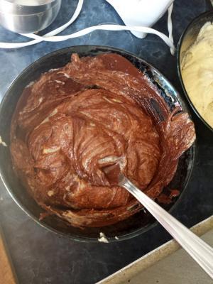 pâte   chocolat marbré