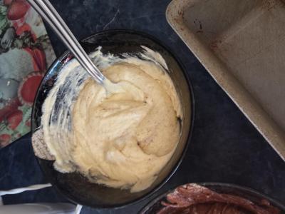 pâte vanille marbré
