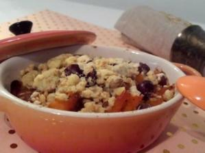 crumble potimarron - noisettes