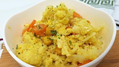 Chou fleur carootes en curry 1