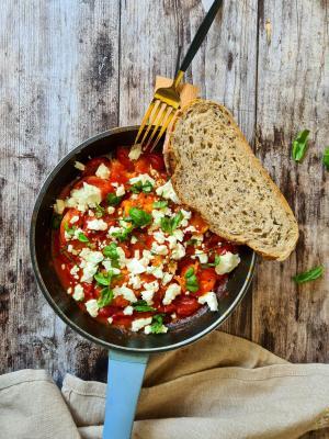 Crevettes sauce tomates