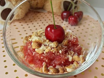 Crumble pomme cerises