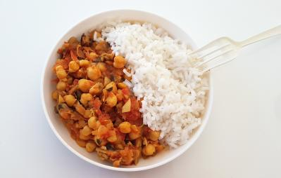 Curry pois chiches et riz