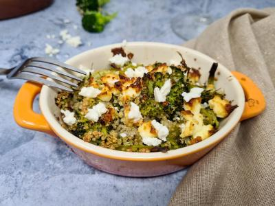 Gratin quinoa et brocoli