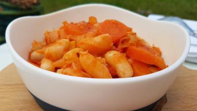 Haricots blancs et carottes