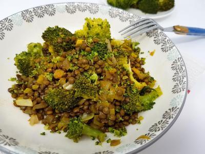 Lentilles et brocolis