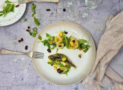 Maquereau aux raisins et curry