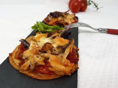 Mini pizza au maquerreau