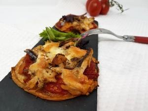 Mini pizza au maquerreau
