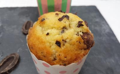 Muffin au grue de cacao