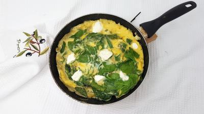 Omelette epinards