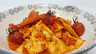 Pates aux carottes et tomates