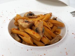 Pates aux champignons et piment