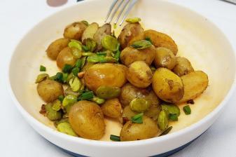 Pommes de terre et feves