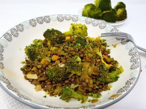Salade brocolis et lentilles