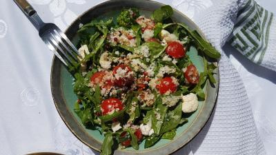 Salade chou fleur et epinards