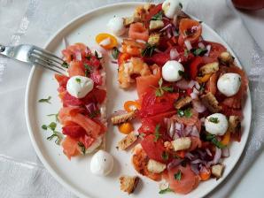 Salade composee truite
