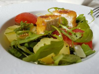 Salade et chevre