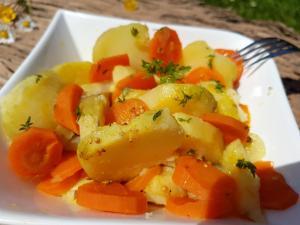 Salade pommes de terre et carottes