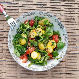Salade pommes de terre et courgettes