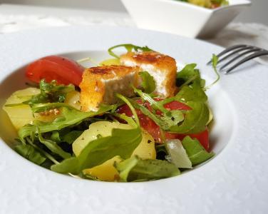 Salade roquette et chevre