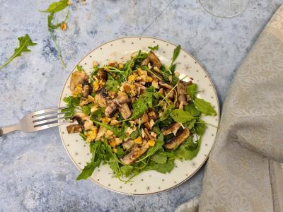 Salade roquette noix