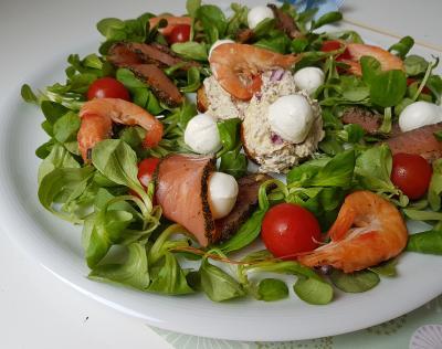 Salade saumon sardine