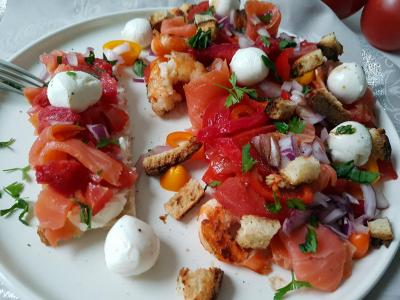 Salade tomate mozza figue