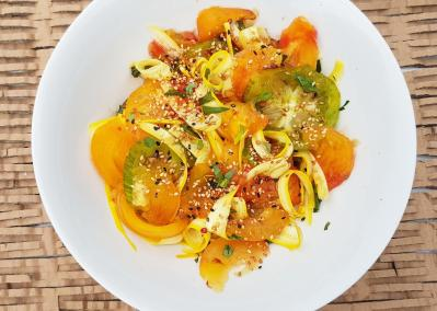 Salade tomates et courgettes