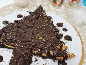 Sapin ganache au chocolat