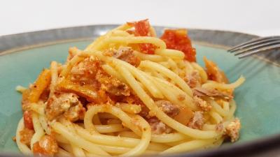 Spaghettis thon et brandade