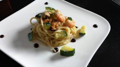 Spaghettis fruits de mer