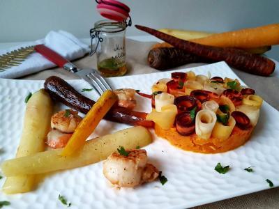 St jacques et carottes