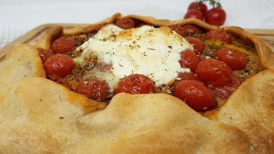 Tarte burrrata et tomates