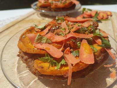 Tarte carottes et patate douce