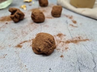 Truffe avec chocolat et noix